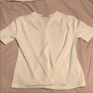 Zara Trafaluc  small beige blouse